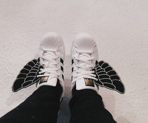 adidas, fly, and superstar image