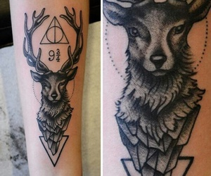 tattoo, harry potter, and deer image