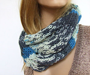 etsy, men scarf, and chunky knit scarf image