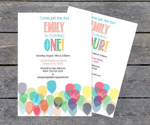 birthday party, birthday invitation, and up up and away image