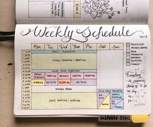 book, journal, and schedule image