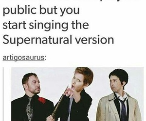 supernatural, parody, and funny image