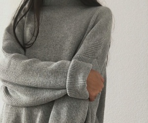 grey, style, and sweater image