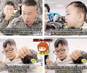 baby, funny, and korean image