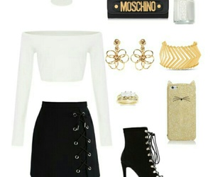 black, girly, and ootd image