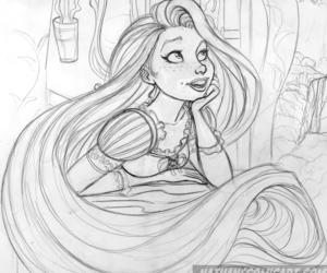 drawing, rapunzel, and cute image