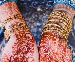 blue, bride, and hindi image