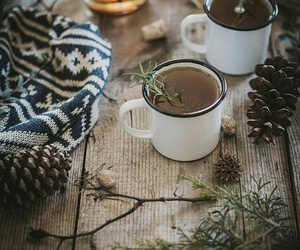 winter, cozy, and tea image