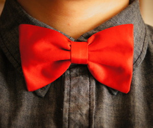 boy, bow, and bowtie image