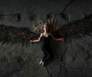 angel, fantasy, and wings image