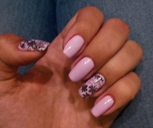 flower, nail art, and girly image