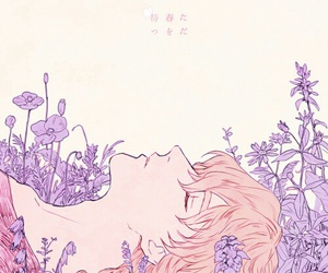 anime, flowers, and boy image
