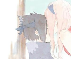 sasusaku, sasuke uchiha, and anime image