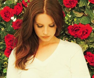 lana del rey, flowers, and red image