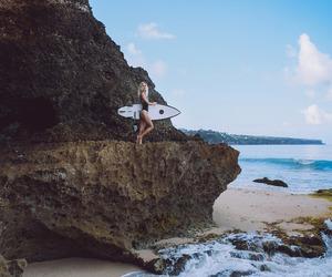 beach, girl, and praia image