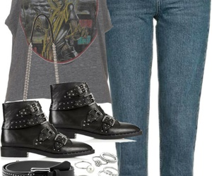 belt, boots, and jean image