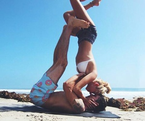 couple, cute, and beach image