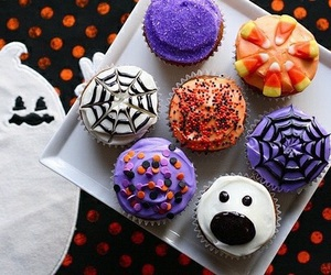 Halloween, food, and cupcake image