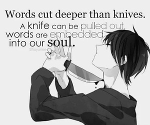 knife, quotes, and anime image