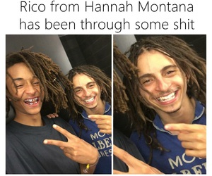 funny, hannah montana, and Rico image