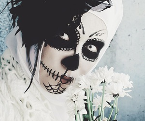 dia de muertos and halloween costume image