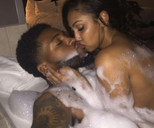 bubble bath, chris and queen, and cute couple image