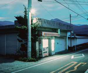 japan, night, and fujiyoshida image