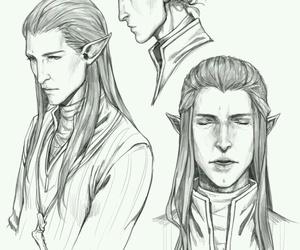 elf, dragon age, and solas image
