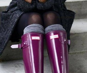 boots, outfit, and rain image