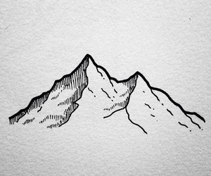 art, mountain, and tattoo image