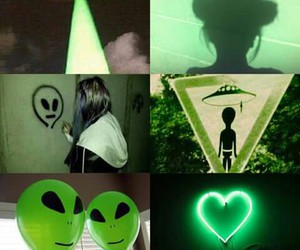 alien and green image