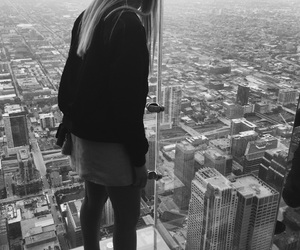 beutiful, black and white, and chicago image