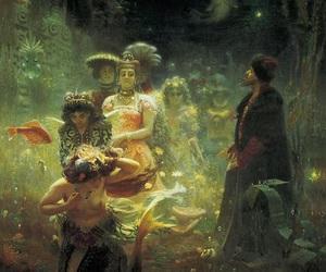 art, painting, and mermaid image