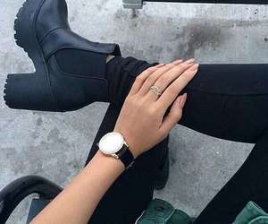 black jeans, jacket, and nails image