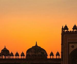 india, sunset, and travel image