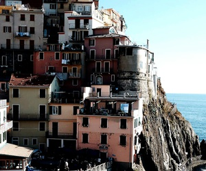 architecture, boats, and cliff image