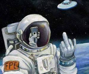 space and selfie image