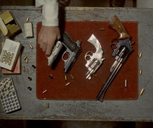taxi driver and gun image