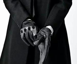 black, gloves, and man image