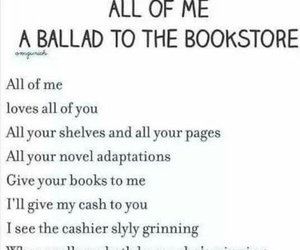 books, bookstore, and song image