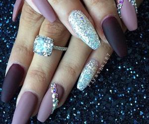 nail art, nails, and glitter nails image