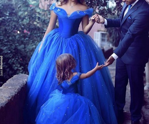 family, dress, and blue image