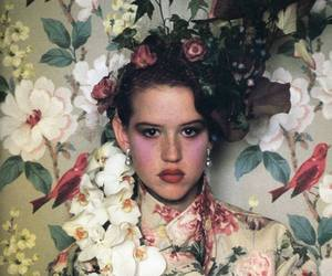 Molly Ringwald and flowers image