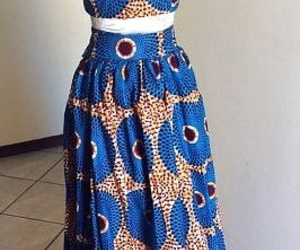 dress, wax, and african pattern image