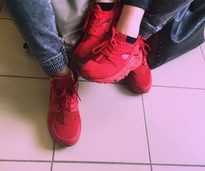 chaussures, couple, and rouge image