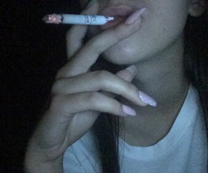 cigaret, smoking, and girl image