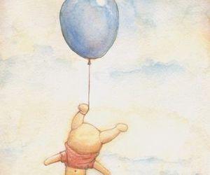 balloon, winnie the pooh, and winnie image