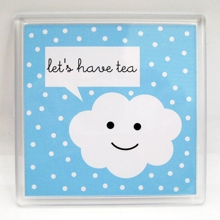 coaster, cute cloud, and happy clouds image