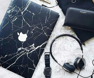 apple, black, and marble image