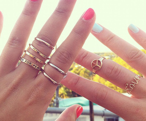 rings, nails, and peace image